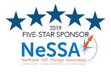 2019 Five-Star Sponsor, NeSSA - Northeast Self Storage Association. Connecticut, Massachusetts, Rhode Island