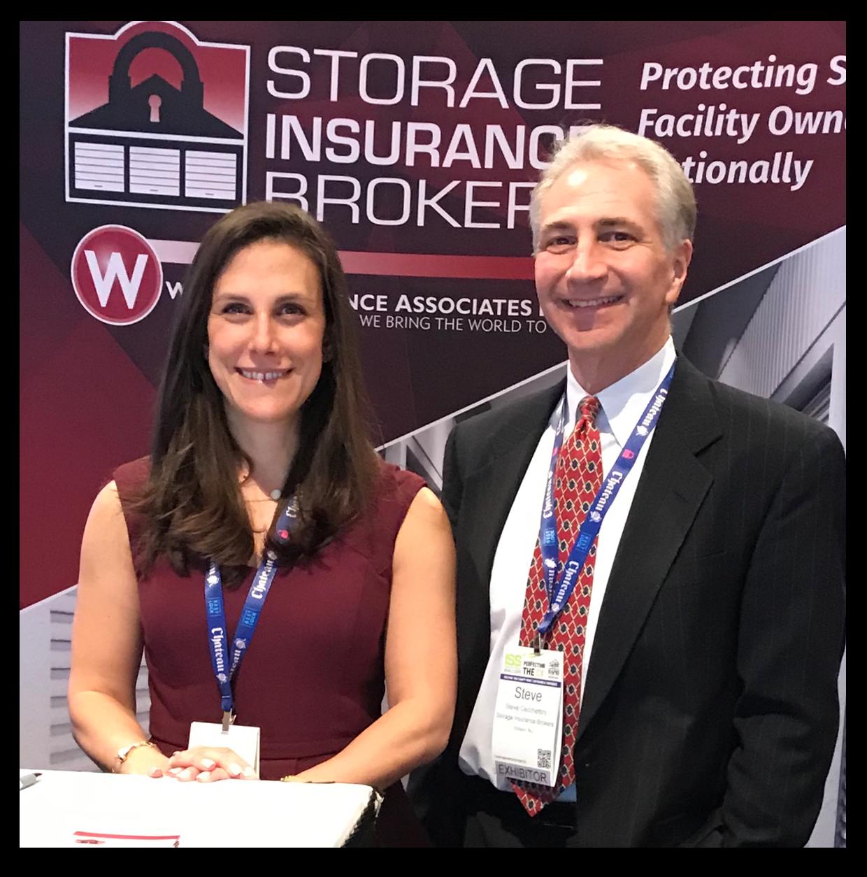 Jessica Lamoureux and Steve Cecchettini at a self storage event