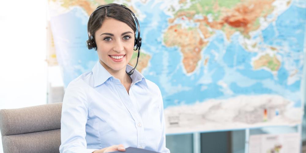 Women travel agent